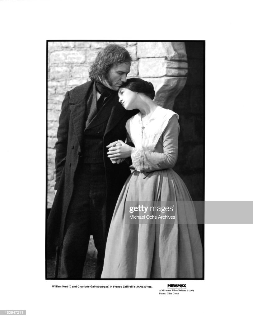 Actress Charlotte Gainsbourg and actor William Hurt in a scene from the movie 'Jane Eyre', circa 1996.