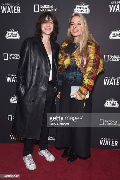 Actress Charlotte Gainsbourg and filmmaker Crystal Moselle attend the 'Our Dream Of Water' New York premiere at Metrograph on March 6 2017 in New...