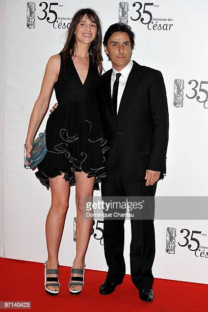 Actress Charlotte Gainsbourg and husband Yvan Attal attend the 35th Cesar Film Awards at Theatre du Chatelet on February 27 2010 in Paris France