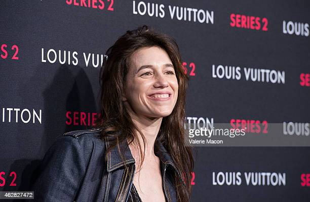 Actress Charlotte Gainsbourg arrives at Louis Vuitton 'Series 2' The Exhibition on February 5 2015 in Hollywood California