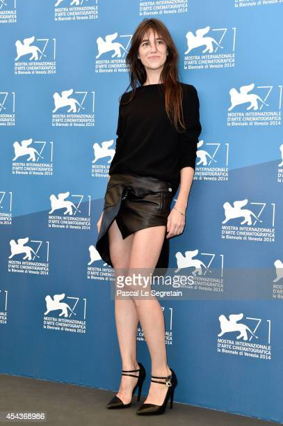 Actress Charlotte Gainsbourg attends the '3 Coeurs' photocall during the 71st Venice Film Festival on August 30 2014 in Venice Italy