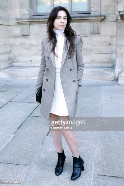 Actress Charlotte Gainsbourg attends the Louis Vuitton show as part of the Paris Fashion Week Womenswear Fall/Winter 20142015 on March 5 2014 in...