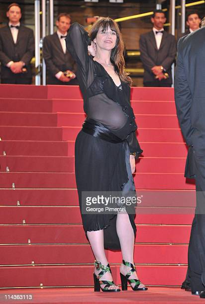 Actress Charlotte Gainsbourg attends the 'Melancholia' Premiere during the 64th Cannes Film Festival at the Palais des Festivals on May 18 2011 in...