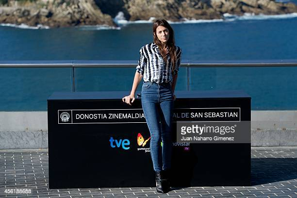 Actress Charlotte Gainsbourg attends the 'Samba' photocall at the Aquarium during the 62nd San Sebastian International Film Festival on September 27...