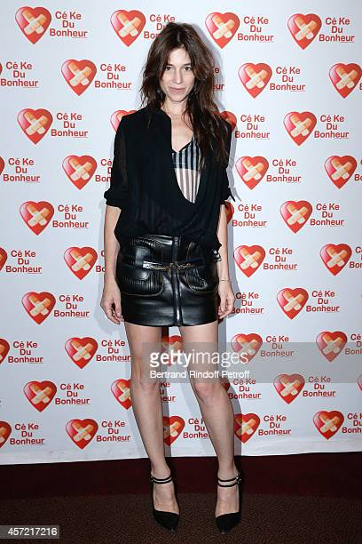 Actress Charlotte Gainsbourg attends the Samba Premiere to Benefit 'CekeDuBonheur' which celebrates its 10th anniversary Held at Cinema Gaumont...