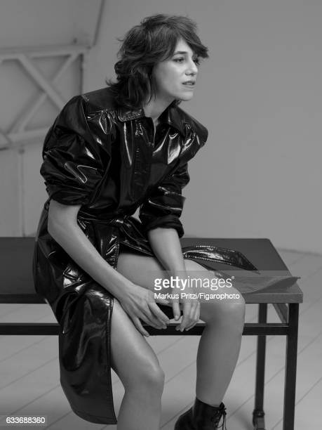 Actress Charlotte Gainsbourg is photographed for Madame Figaro on December 16 2016 in Paris France Trench boots CREDIT MUST READ Markus...