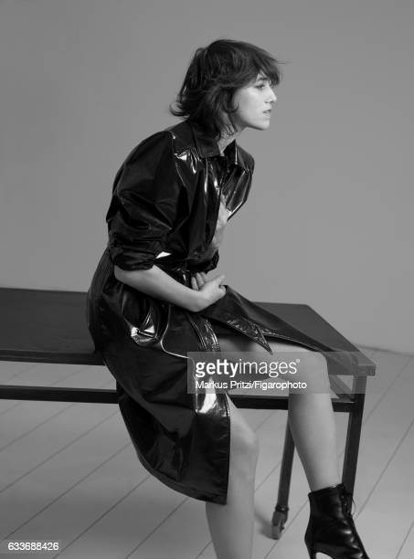 Actress Charlotte Gainsbourg is photographed for Madame Figaro on December 16 2016 in Paris France Trench boots PUBLISHED IMAGE CREDIT MUST READ...
