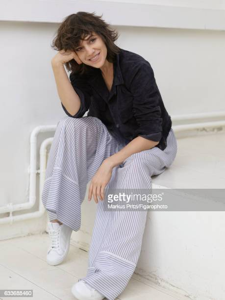 Actress Charlotte Gainsbourg is photographed for Madame Figaro on December 16 2016 in Paris France Jacket pants sneakers PUBLISHED IMAGE CREDIT MUST...
