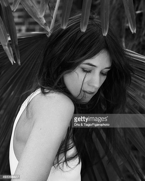 109160007 Actress Charlotte Gainsbourg is photographed for Madame Figaro on April 5 2014 in Paris France Tank top Makeup by Dior PUBLISHED IMAGE...