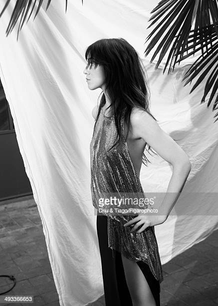 109160011 Actress Charlotte Gainsbourg is photographed for Madame Figaro on April 5 2014 in Paris France Dress Makeup by Dior CREDIT MUST READ Driu...