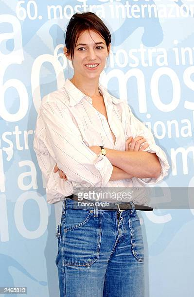 Actress Charlotte Gainsbourg poses during a photocall at the 60th Venice Film Festival September 5 2003 in Venice Italy