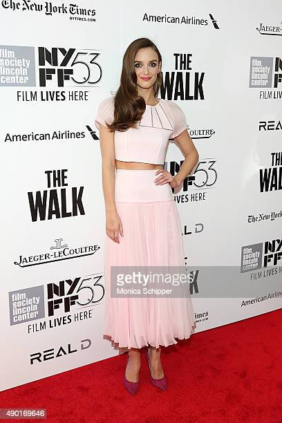 Actress Charlotte Le Bon attends the 53rd New York Film festival opening night gala presentation and 'The Walk' world premiere on September 26 2015...