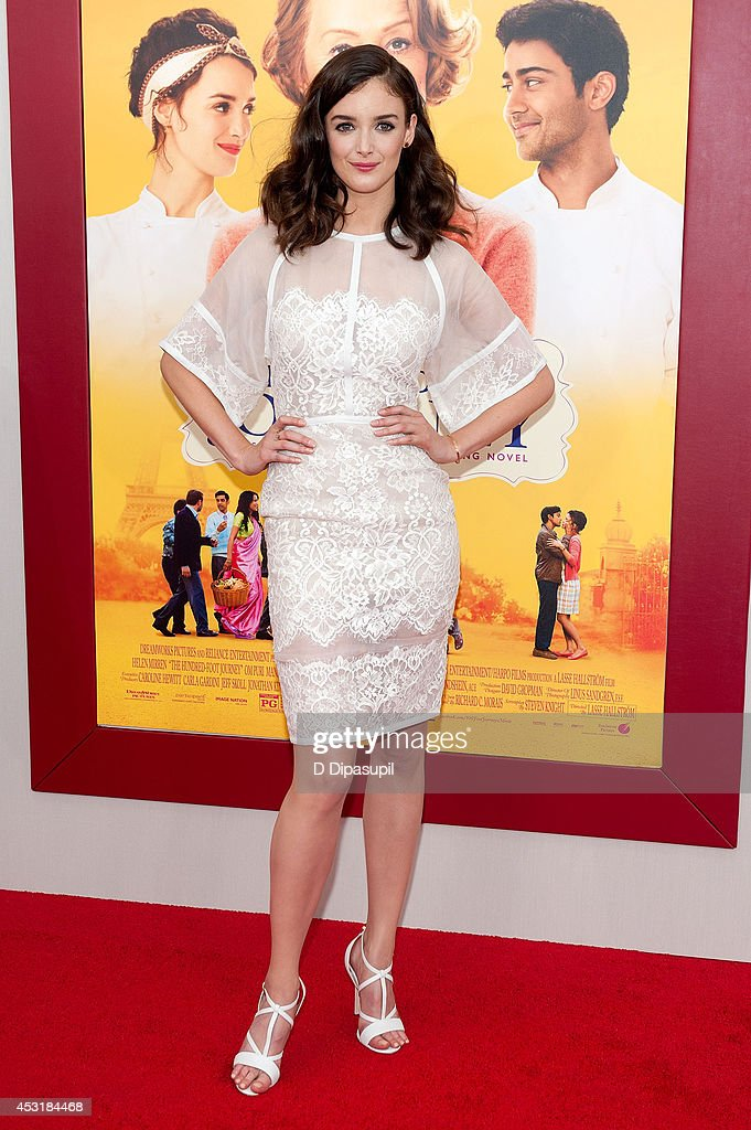 Actress <a gi-track='captionPersonalityLinkClicked' href=/galleries/search?phrase=Charlotte+Le+Bon&family=editorial&specificpeople=7162691 ng-click='$event.stopPropagation()'>Charlotte Le Bon</a> attends 'The Hundred-Foot Journey' New York premiere at the Ziegfeld Theater on August 4, 2014 in New York City.