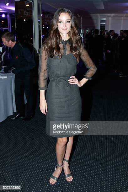 Actress Charlotte Le Bon dressed in Nina Ricci attends the Sidaction Gala Dinner 2016 as part of Paris Fashion Week Held at Pavillon d'Armenonville...