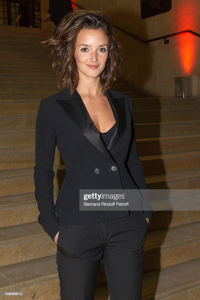 Actress <a gi-track='captionPersonalityLinkClicked' href=/galleries/search?phrase=Charlotte+Le+Bon&family=editorial&specificpeople=7162691 ng-click='$event.stopPropagation()'>Charlotte Le Bon</a>, GQ's Woman of the Year, attends the GQ Men of the year awards 2012 at Musee d'Orsay on January 16, 2013 in Paris, France.