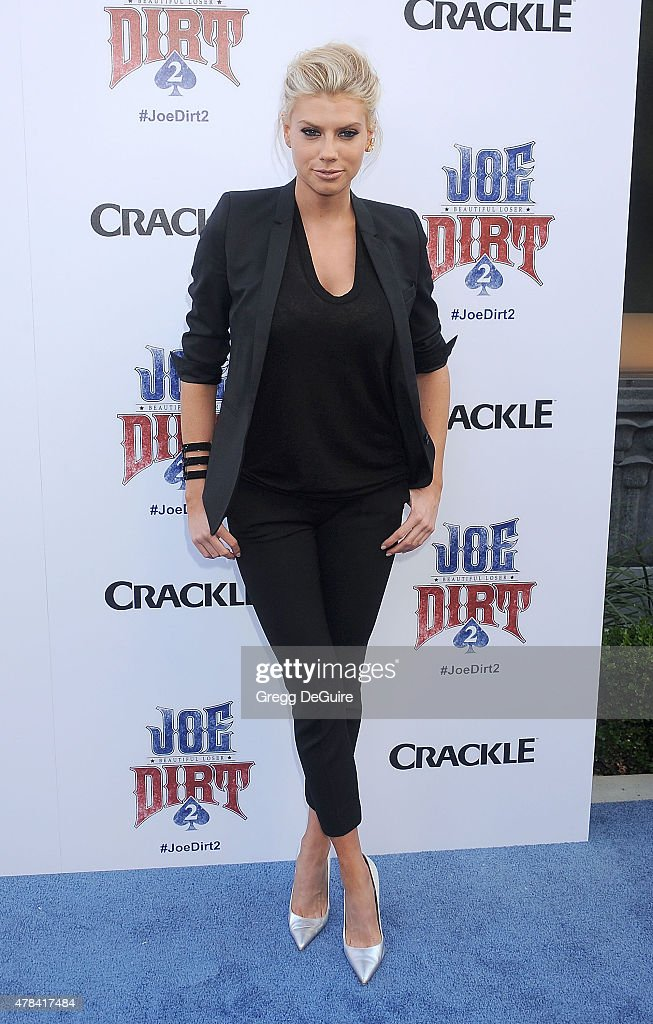 Actress Charlotte McKinney arrives at the 'Joe Dirt 2 Beautiful Loser' world premiere at Sony Studios on June 24 2015 in Los Angeles California