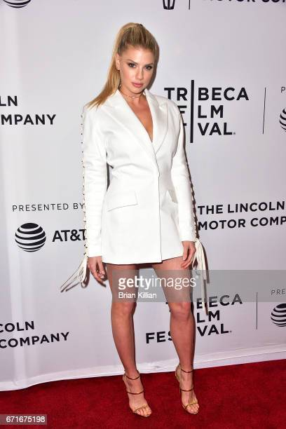 Actress Charlotte McKinney attends the 2017 Tribeca Film Festival 'Literally Right Before Aaron' screening at SVA Theatre on April 22 2017 in New...