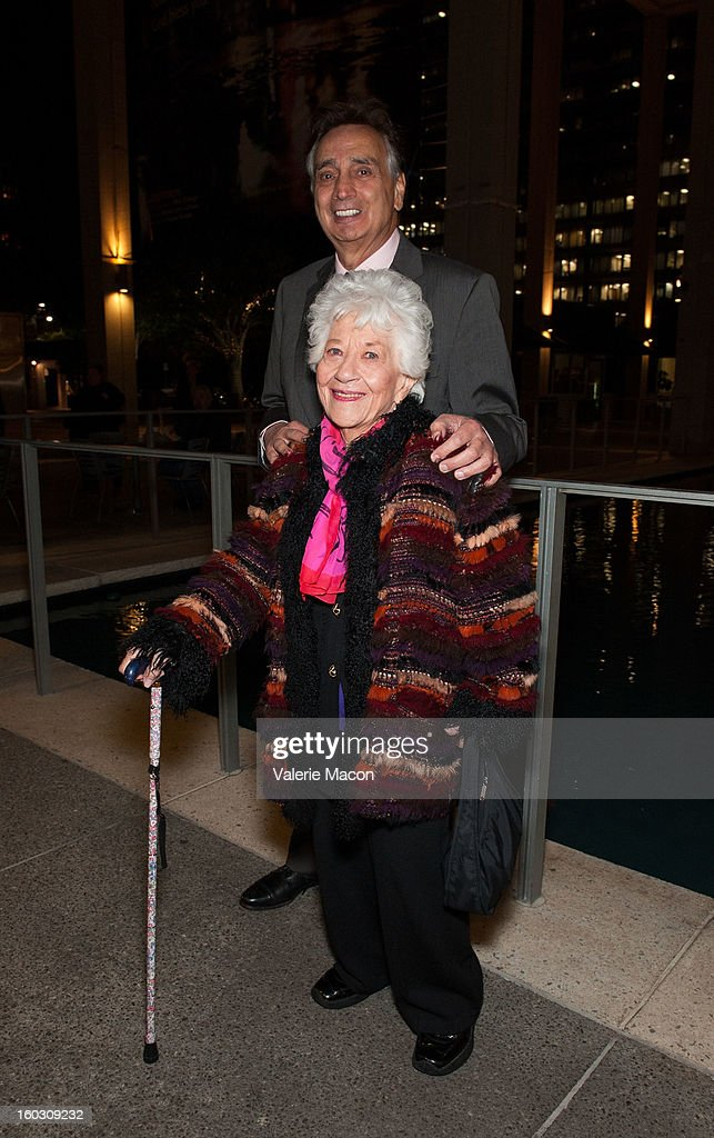 Actress <a gi-track='captionPersonalityLinkClicked' href=/galleries/search?phrase=Charlotte+Rae&family=editorial&specificpeople=757171 ng-click='$event.stopPropagation()'>Charlotte Rae</a> arrives at 'Enter Laughing, The Musical' Carl Reiner's One-Night Only Tribute Celebrating His 75th Anniversary In Show Business on January 28, 2013 in Los Angeles, California.