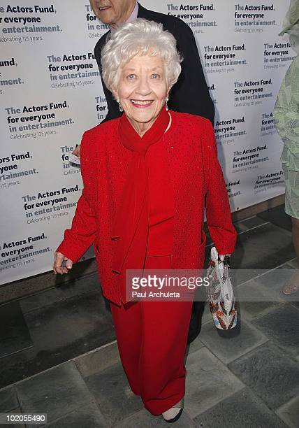 Actress Charlotte Rae arrives at the Actors Funds 14th annual Los Angeles TONY awards party at Skirball Cultural Center on June 13 2010 in Los...