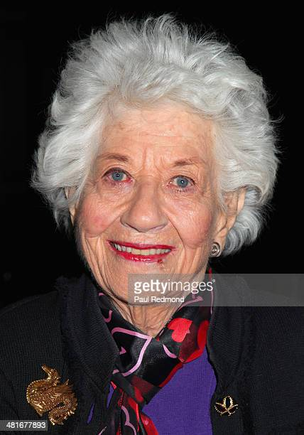 Actress Charlotte Rae attending the Professional Dancers Society's 27th Annual Gypsy Award Luncheon at The Beverly Hilton Hotel on March 30 2014 in...