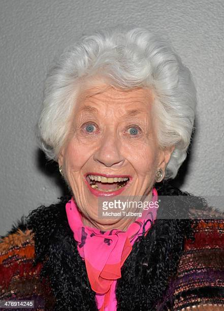 Actress Charlotte Rae attends a screening of the film 'Elaine Stritch Shoot Me' on March 5 2014 in Los Angeles California