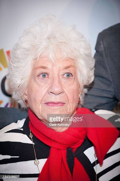 Actress Charlotte Rae attends The Center Dinner to benefit The Lesbian Gay Bisexual Transgender Community Center held at the Metropolitan Pavilion on...