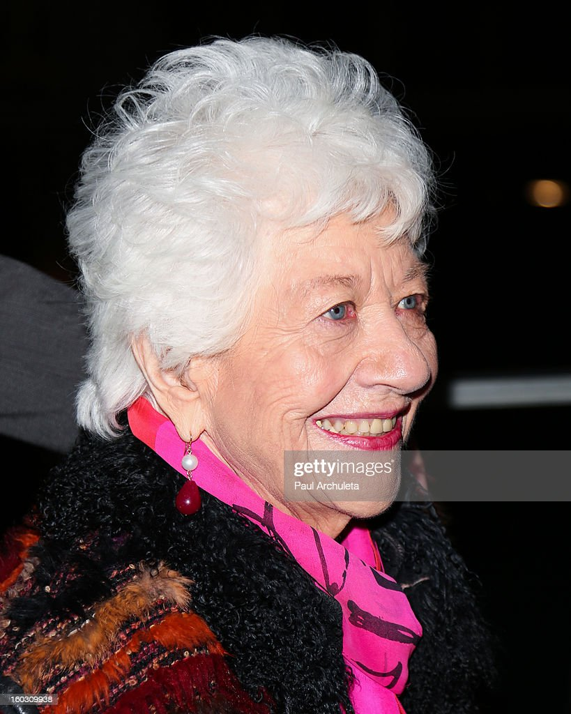 Actress <a gi-track='captionPersonalityLinkClicked' href=/galleries/search?phrase=Charlotte+Rae&family=editorial&specificpeople=757171 ng-click='$event.stopPropagation()'>Charlotte Rae</a> attends the 'Enter Laughing, The Musical' opening night at the Mark Taper Forum on January 28, 2013 in Los Angeles, California.