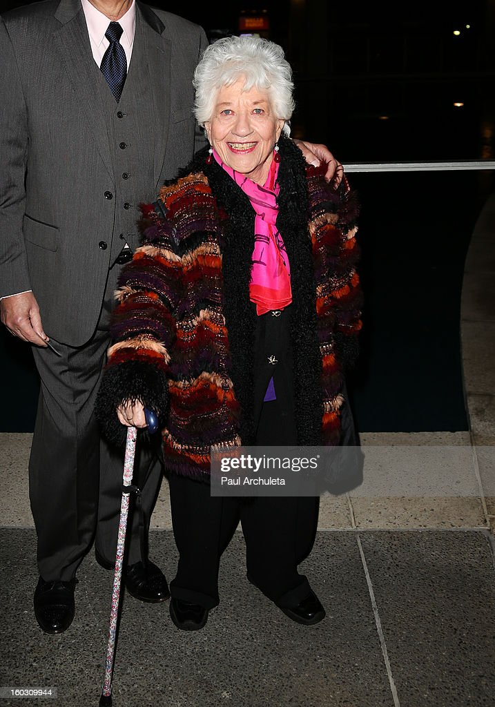 Actress Charlotte Rae attends the 'Enter Laughing, The Musical' opening night at the Mark Taper Forum on January 28, 2013 in Los Angeles, California.