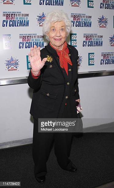 Actress Charlotte Rae attends the premiere of 'The Best Is Yet to Come The Music of Cy Coleman' at 59E59 Theaters on May 25 2011 in New York City