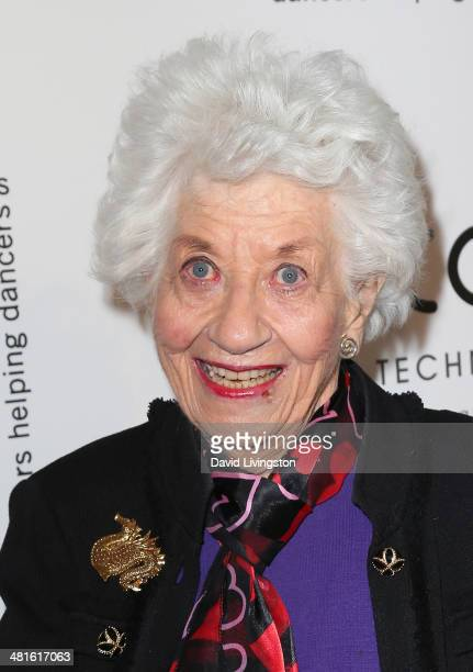 Actress Charlotte Rae attends the Professional Dancers Society's 27th Annual Gypsy Award Luncheon at The Beverly Hilton Hotel on March 30 2014 in...