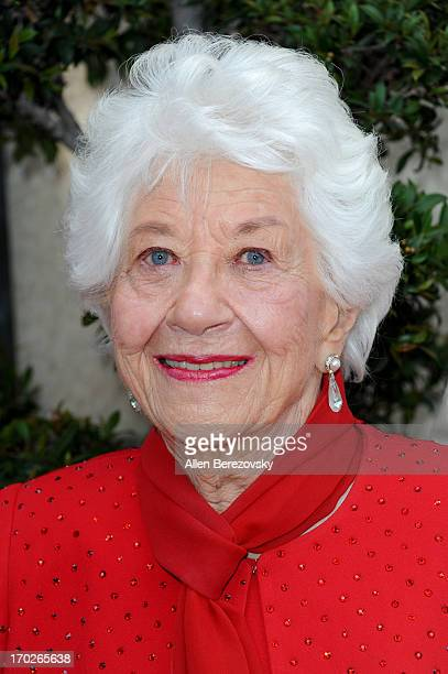 Actress Charlotte Rae attends the the Actors Fund's 17th annual Tony Awards viewing party at Taglyan Cultural Complex on June 9 2013 in Hollywood...
