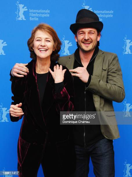 Actress Charlotte Rampling and director Barnaby Southcombe attend the 'I Anna' Photocall during day four of the 62nd Berlin International Film...