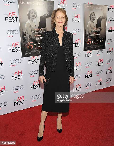 Actress Charlotte Rampling arrives at the AFI FEST 2015 Presented by Audi Tribute to Charlotte Rampling and Tom Courtenay event at the TCL Chinese...