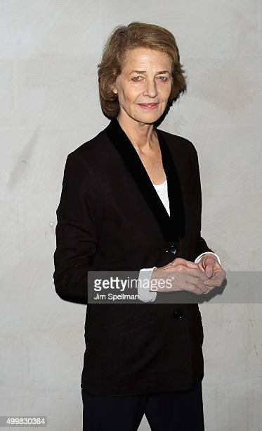 Actress Charlotte Rampling attends Sundance Selects' '45 Years' screening hosted by The Cinema Society with Lillet and NARS at Landmark Sunshine...
