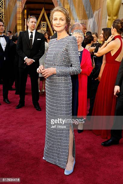 Actress Charlotte Rampling attends the 88th Annual Academy Awards at Hollywood Highland Center on February 28 2016 in Hollywood California