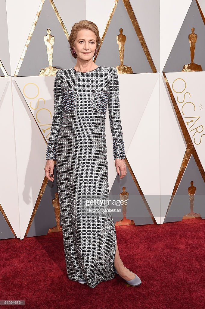 Actress <a gi-track='captionPersonalityLinkClicked' href=/galleries/search?phrase=Charlotte+Rampling&family=editorial&specificpeople=212770 ng-click='$event.stopPropagation()'>Charlotte Rampling</a> attends the 88th Annual Academy Awards at Hollywood & Highland Center on February 28, 2016 in Hollywood, California.