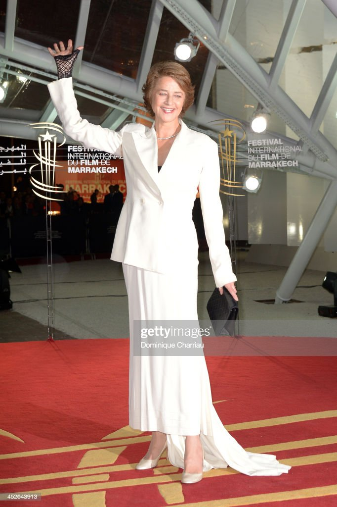Actress <a gi-track='captionPersonalityLinkClicked' href=/galleries/search?phrase=Charlotte+Rampling&family=editorial&specificpeople=212770 ng-click='$event.stopPropagation()'>Charlotte Rampling</a> attends the 'A Thousand Times Good Night' premiere during the 13th Marrakech International Film Festival on November 30, 2013 in Marrakech, Morocco.