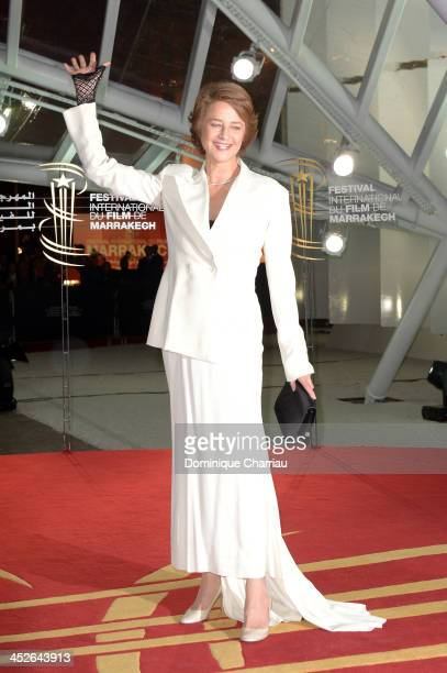 Actress Charlotte Rampling attends the 'A Thousand Times Good Night' premiere during the 13th Marrakech International Film Festival on November 30...