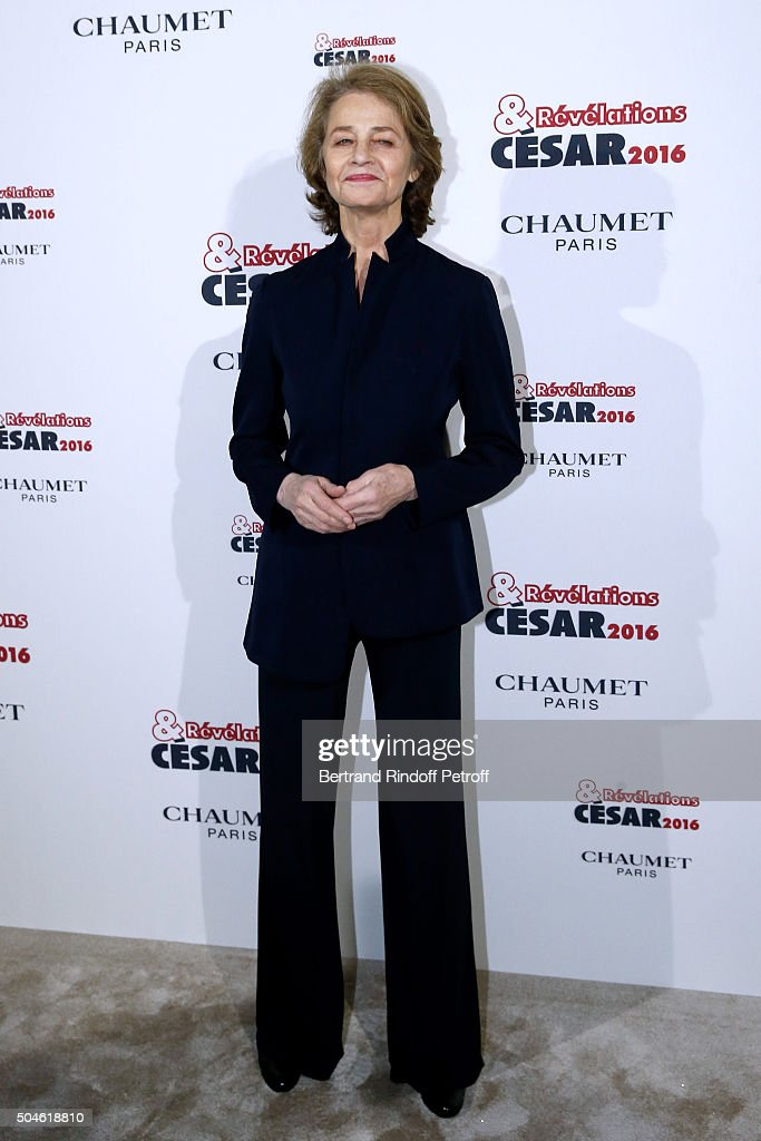 Actress <a gi-track='captionPersonalityLinkClicked' href=/galleries/search?phrase=Charlotte+Rampling&family=editorial&specificpeople=212770 ng-click='$event.stopPropagation()'>Charlotte Rampling</a> attends the 'Cesar - Revelations 2016' Photocall at Chaumet, followed by a dinner at Hotel Meurice on January 11, 2016 in Paris, France.