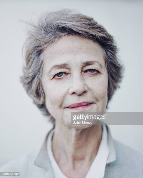 Actress Charlotte Rampling is photographed for ELLE on September 12 2016 in Paris France