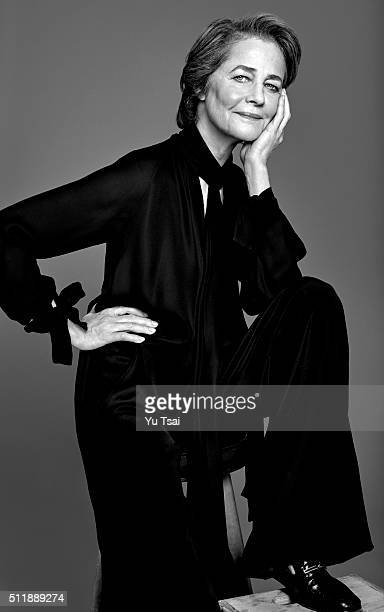 Actress Charlotte Rampling is photographed for People Magazine on February 7 2016 in Los Angeles California ON DOMESTIC EMBARGO UNTIL MAY 16 2016 ON...