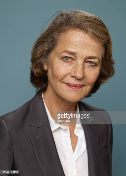 Actress Charlotte Rampling of 'The Eye Of The Storm' poses during the 2011 Toronto Film Festival at Guess Portrait Studio on September 12 2011 in...