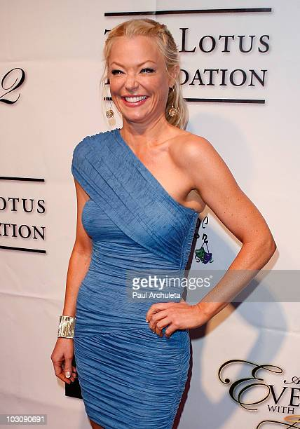 Actress Charlotte Ross arrives at 'An Evening With Angels' presented by the Elevate Hope Foundation at Boulevard3 on July 25 2010 in Hollywood...