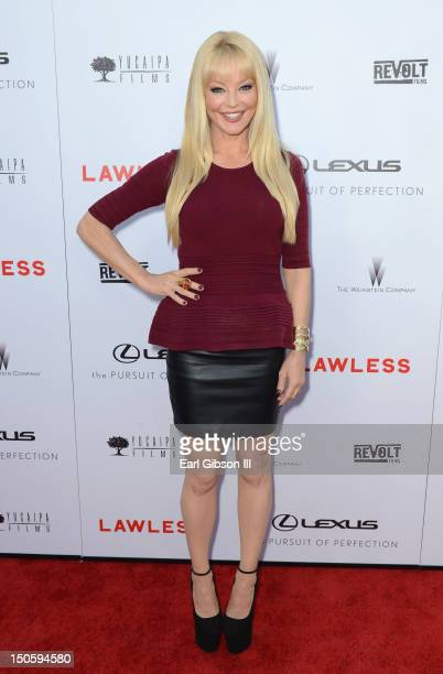 Actress Charlotte Ross arrives at 'LAWLESS' premiere in Los Angeles hosted By DeLeon and Presented by The Weinstein Company Revolt Films Yucapia...