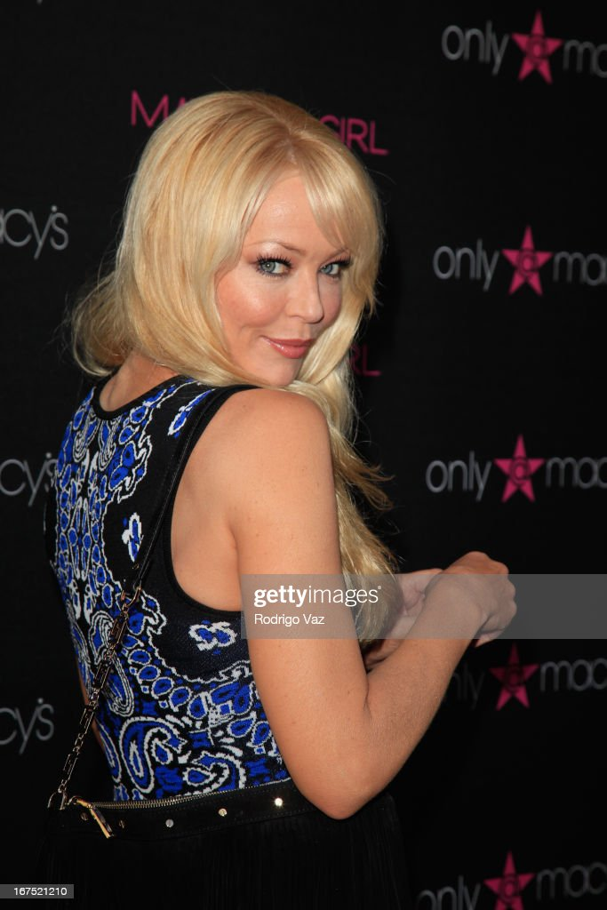 Actress Charlotte Ross arrives at Madonna's Fashion Evolution Pop-Up Exhibition at Macy's Westfield Century City on April 25, 2013 in Century City, California.