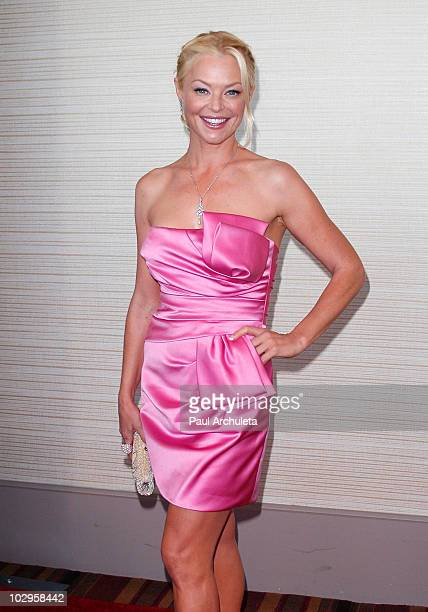 Actress Charlotte Ross arrives at the 4th annual Enzoani Bridal Fashion Show at JW Marriott Los Angeles at LA LIVE on July 17 2010 in Los Angeles...