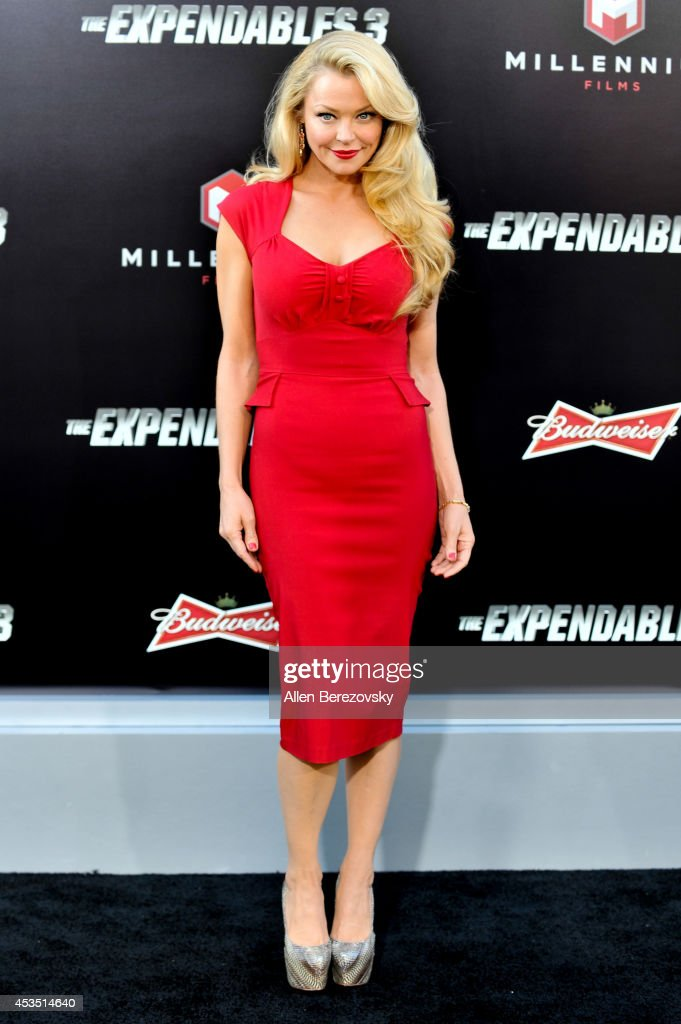 Actress <a gi-track='captionPersonalityLinkClicked' href=/galleries/search?phrase=Charlotte+Ross&family=editorial&specificpeople=217600 ng-click='$event.stopPropagation()'>Charlotte Ross</a> arrives at the Los Angeles premiere of Lionsgate Films' 'The Expendables 3' at TCL Chinese Theatre on August 11, 2014 in Hollywood, California.