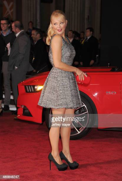 Actress Charlotte Ross arrives at the Los Angeles premiere of 'Need For Speed' at TCL Chinese Theatre on March 6 2014 in Hollywood California