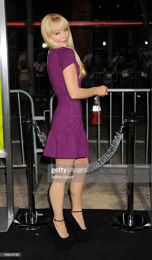 Actress Charlotte Ross arrives at the Los Angeles premiere of 'Seven Psychopaths' at Mann Bruin Theatre on October 1, 2012 in Westwood, California.
