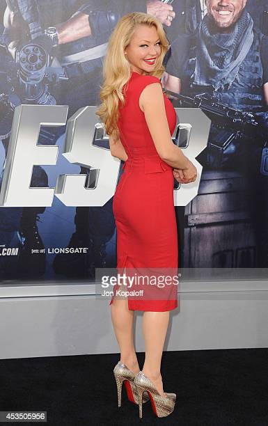 Actress Charlotte Ross arrives at the Los Angeles Premiere 'The Expendables 3' at TCL Chinese Theatre on August 11 2014 in Hollywood California